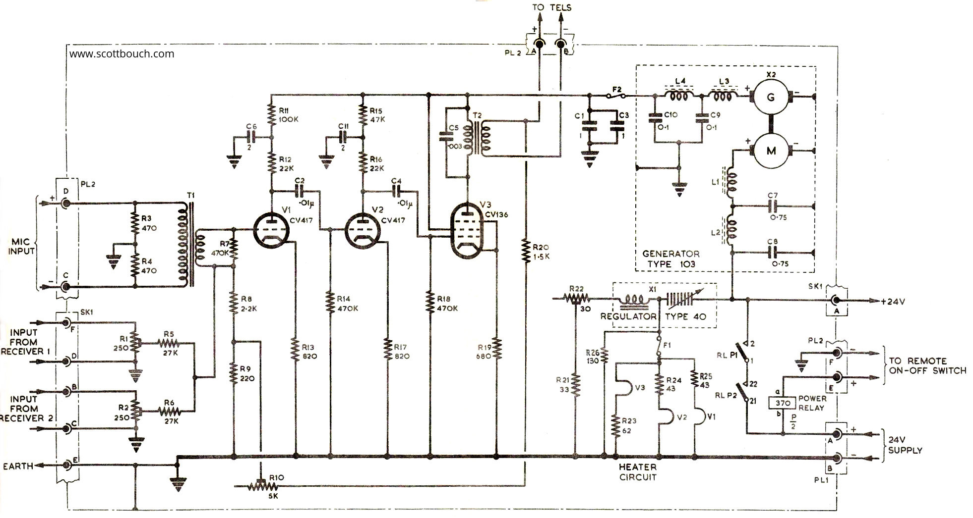 amplifier a1961 circuit 01 a1961 intercom amplifier scottbouch aircraft intercom wiring diagram at bayanpartner.co
