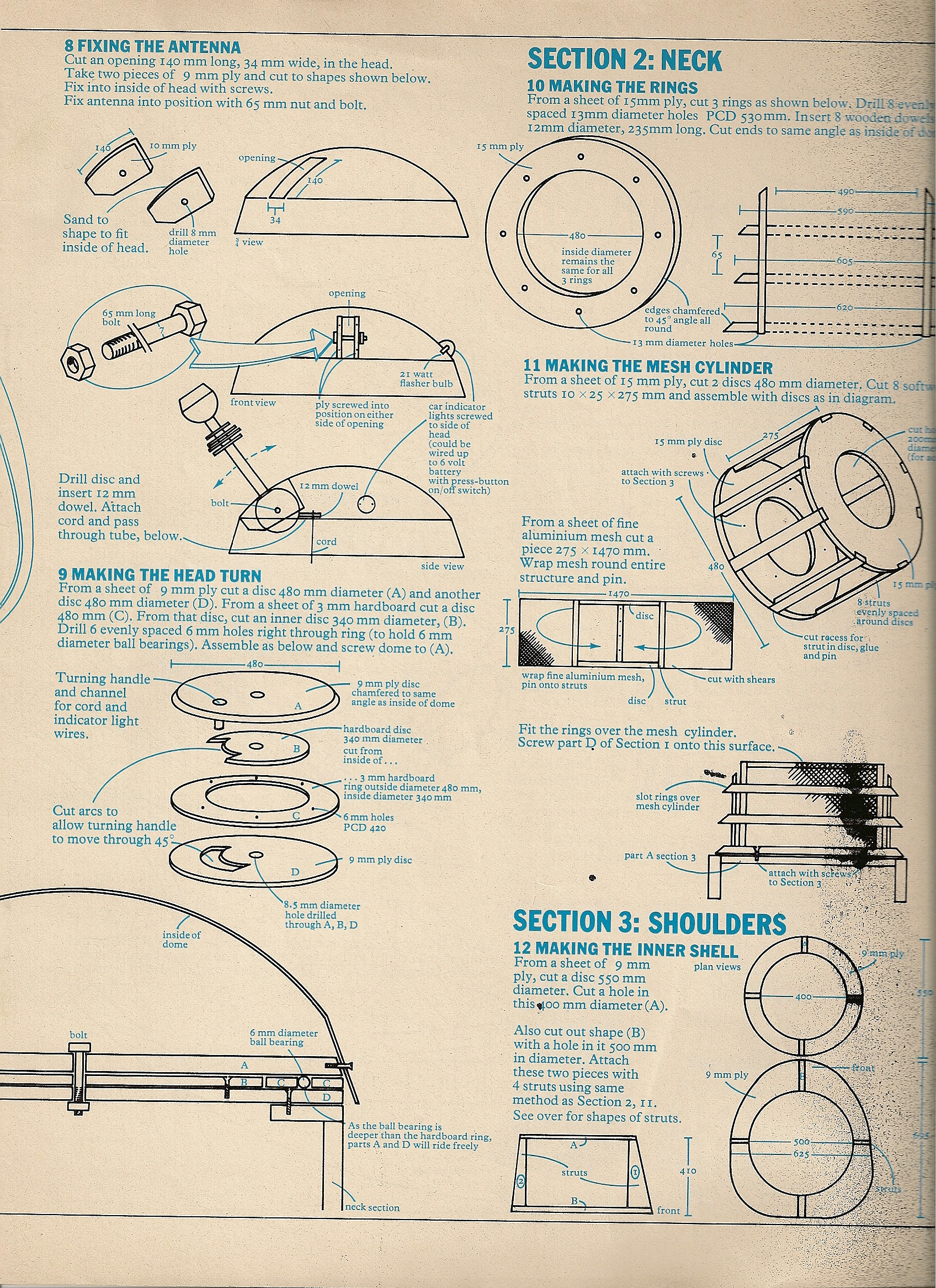 1973 radio times dalek plans scottbouch for How to build a blueprint