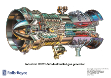 Industrial RB211 24G Engine, Gas Fuelled
